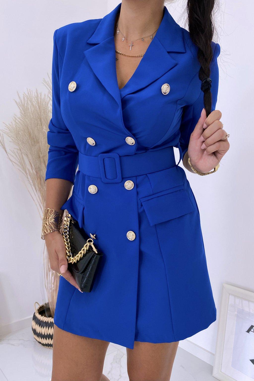 Modré šaty La Balmain