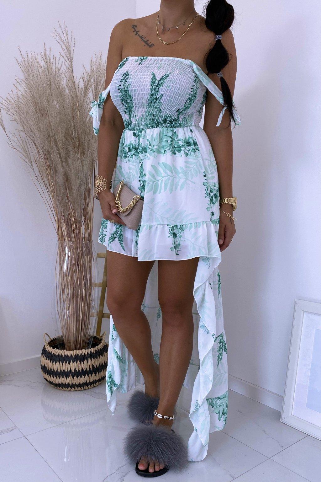 Zelené šaty Botanical