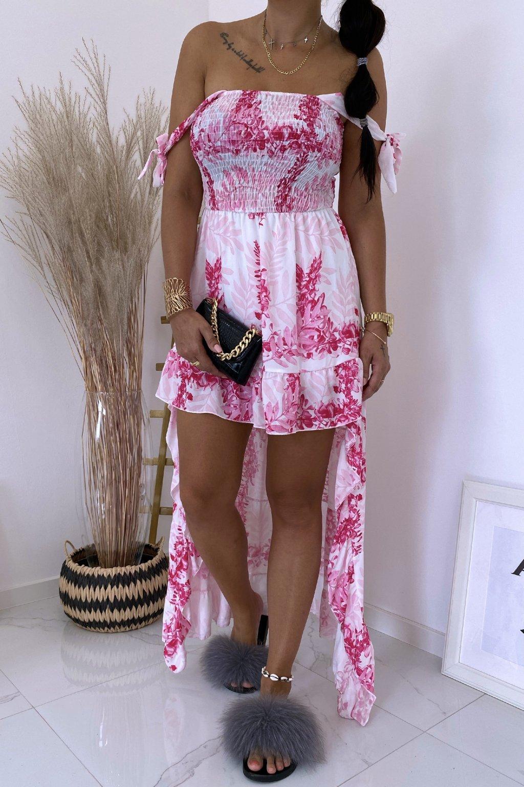 Růžové šaty Botanical