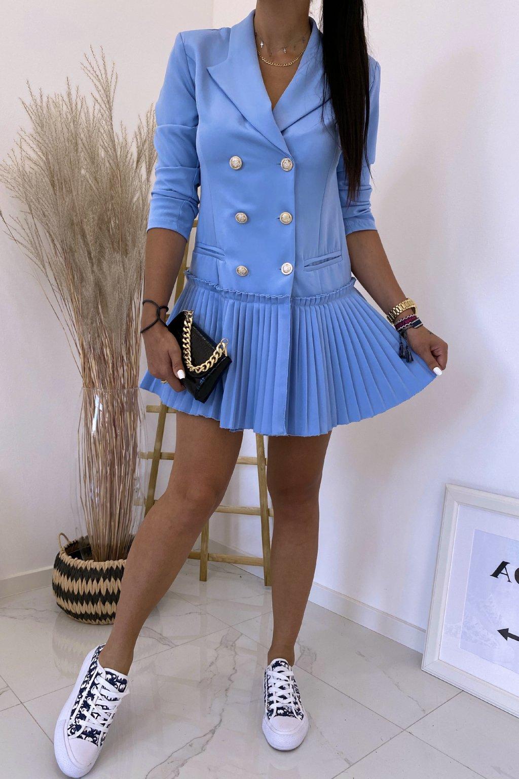 Modré šaty LaDiore