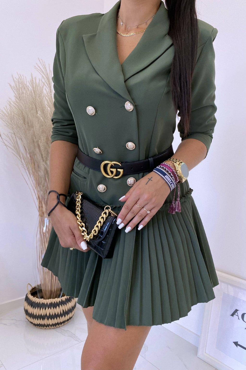 Khaki šaty LaDiore