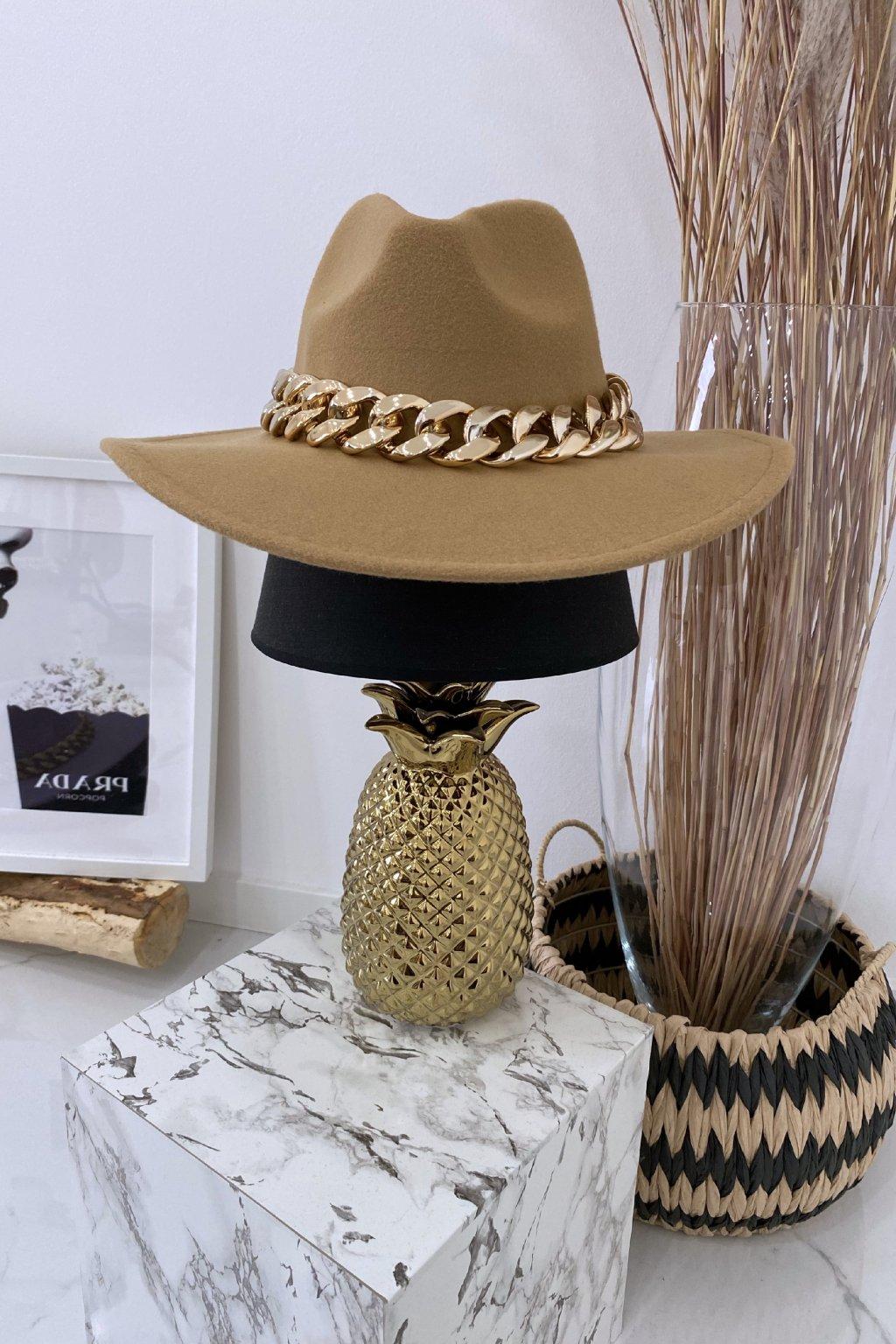 Béžový klobouk Gold Max