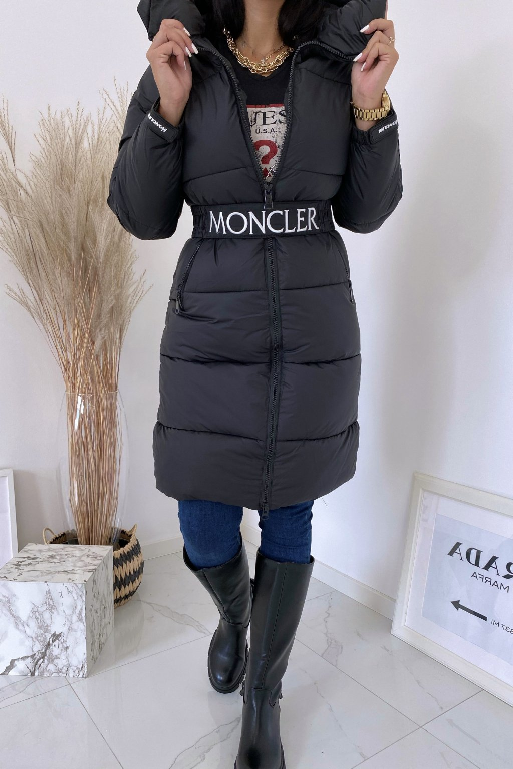 Zimní černá bunda Flawless