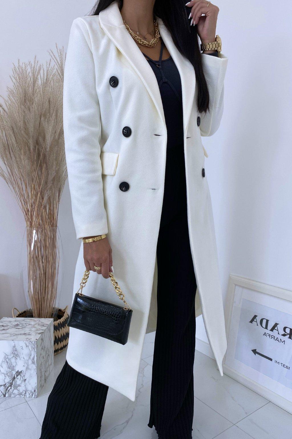 Smetanový kabát Pradino