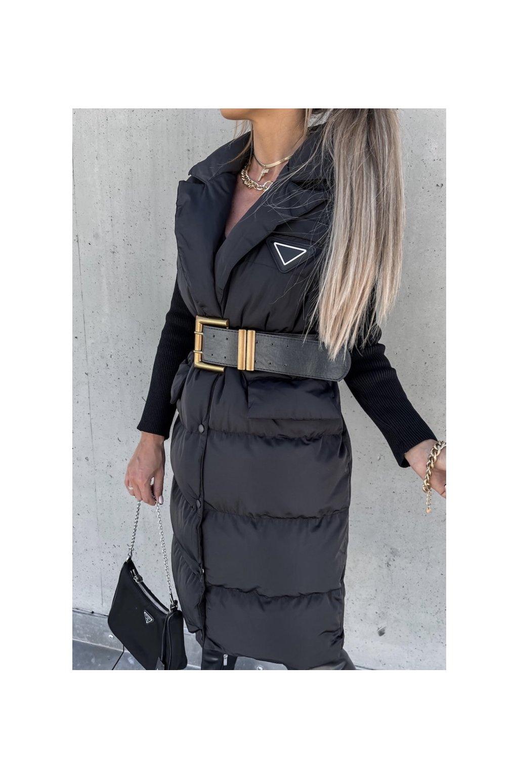 Luxusní černá vesta Fashionista