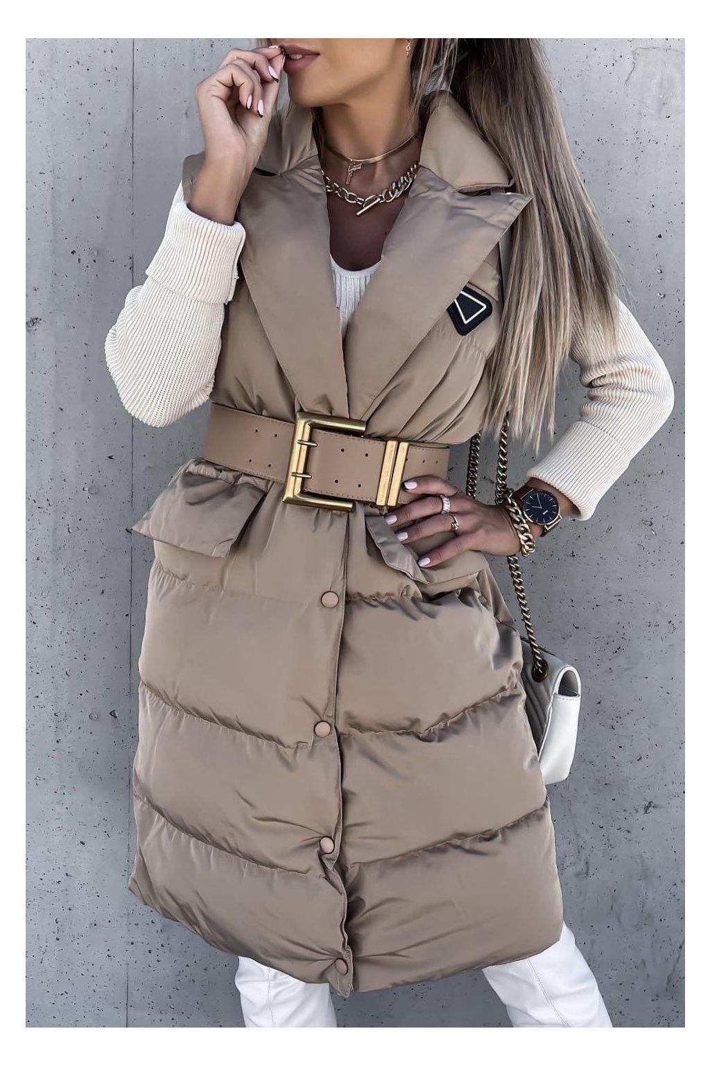 Luxusní béžová vesta Fashionista