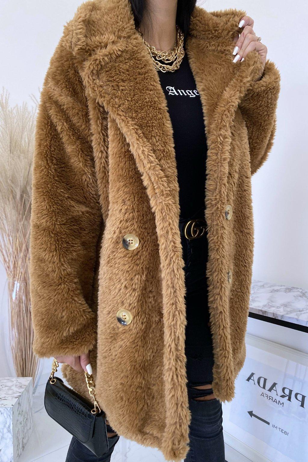 Camel oversize kabát Teddy
