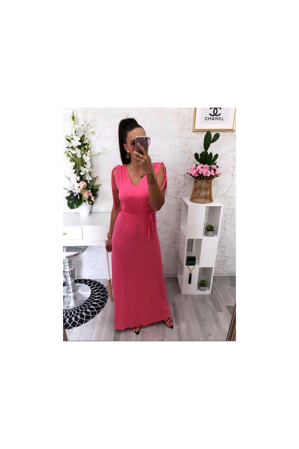Antické šaty růžové