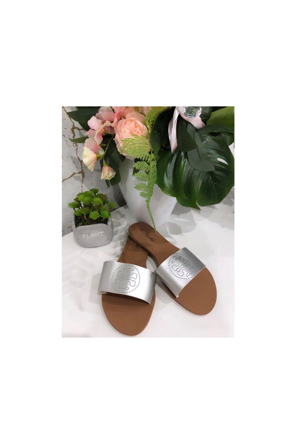 Sandálky Tory silver