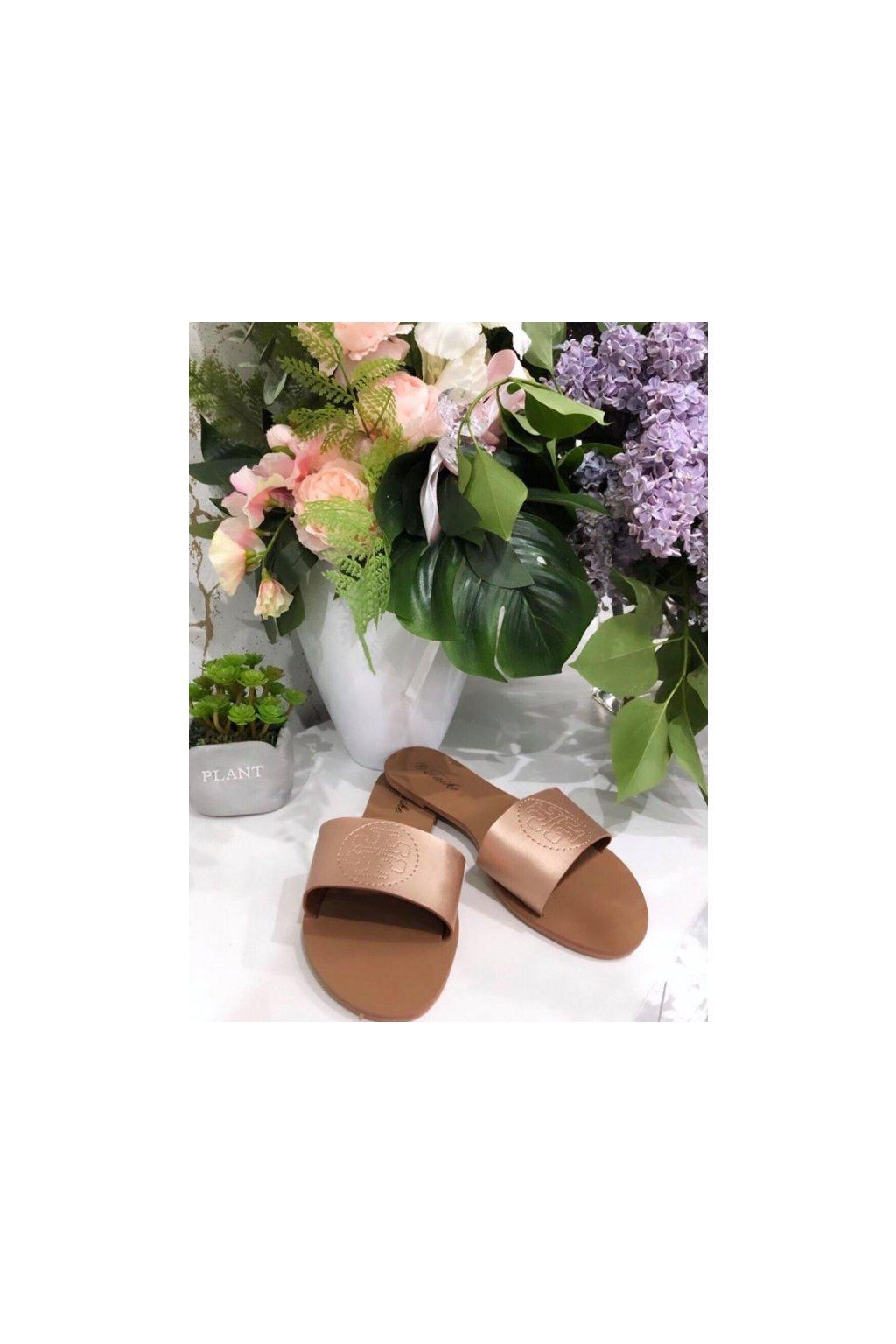 Sandálky Tory rose gold