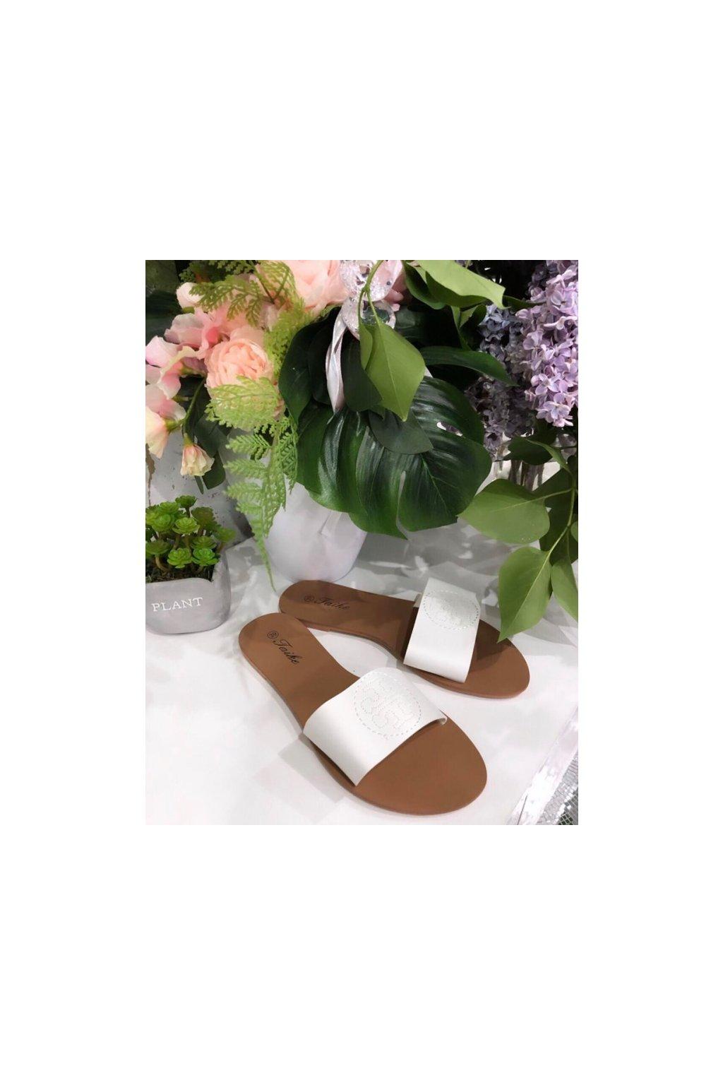 Sandálky Tory white
