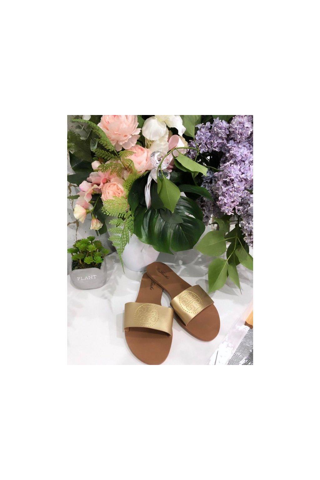 Sandálky Tory gold