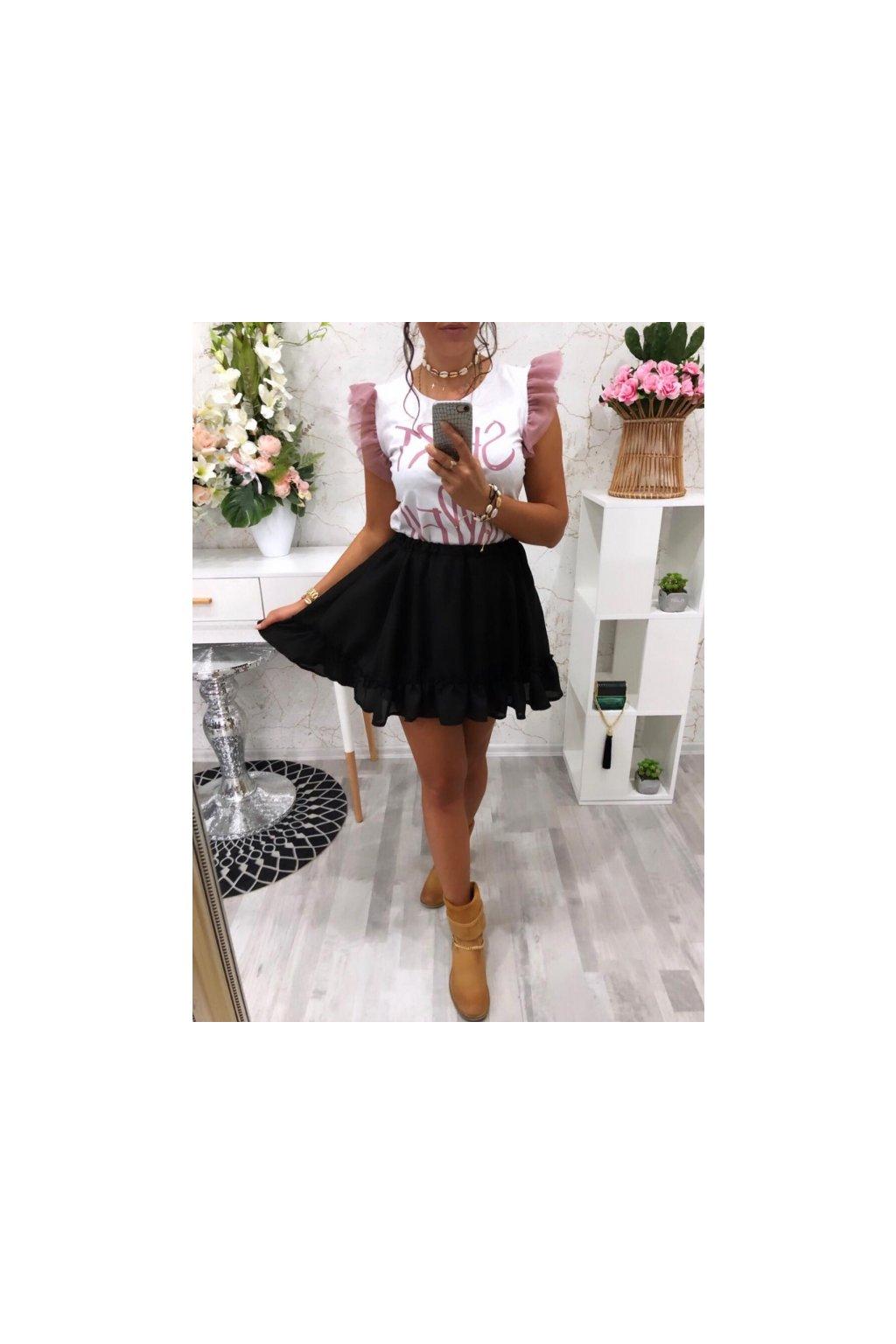 Černá sukně s volanem