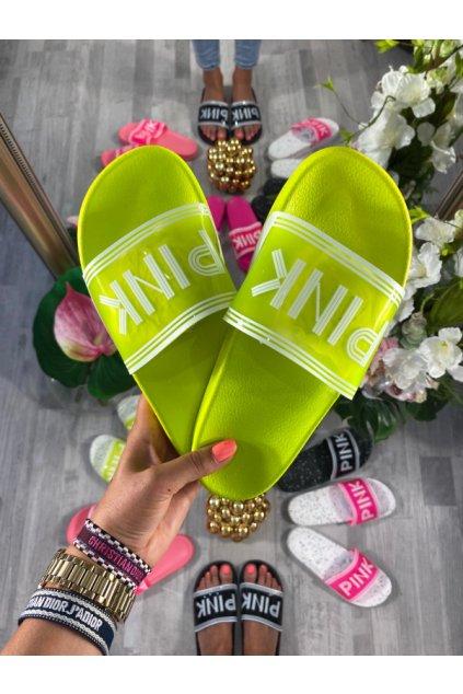Neon žluté cukle - PINK