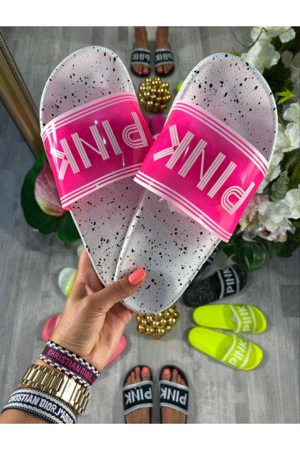 Prskané neon růžové cukle - PINK