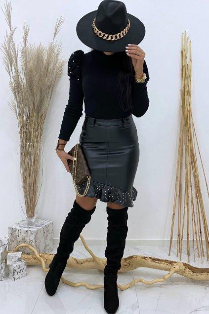 Kožená sukně - Fashionista