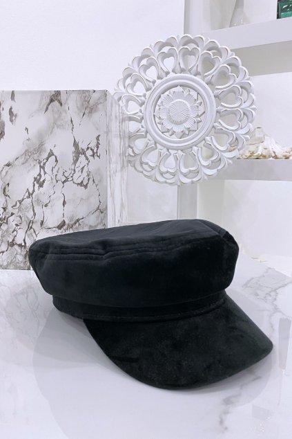 Černá baker boy čepice