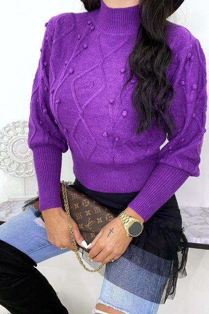 Fialový svetr - Bon Bon
