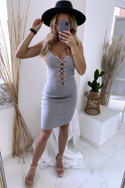 Slim šaty - Kristen/Grey
