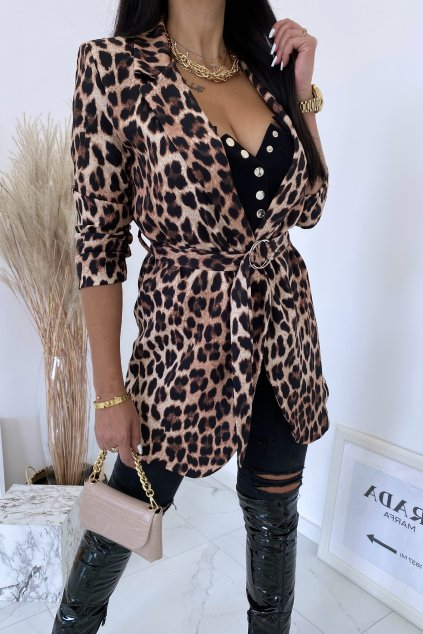 Luxusní leopard sako Loren