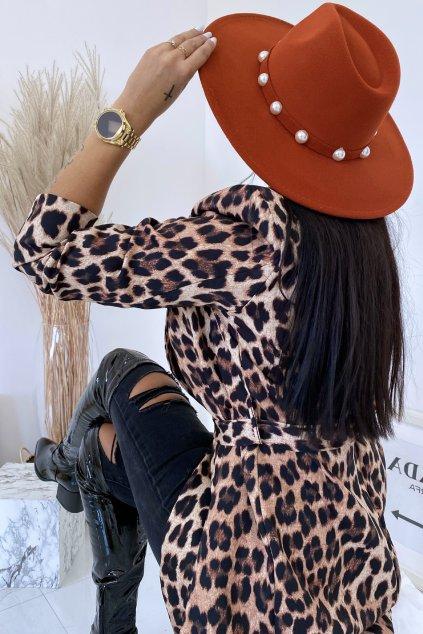 Skořicový klobouk Pola
