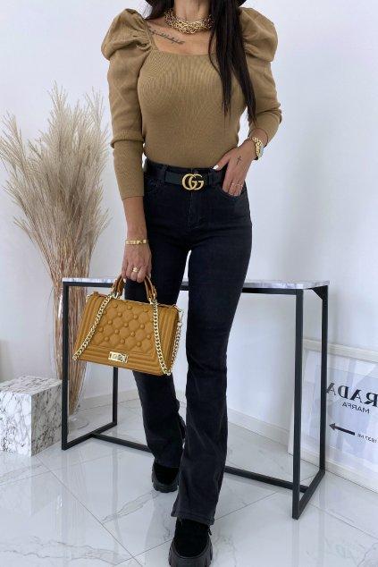 Černé zvonové džíny Diva