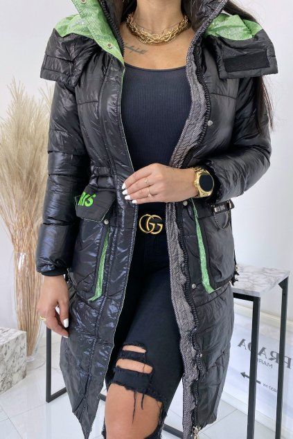 Černá zimní bunda Beris