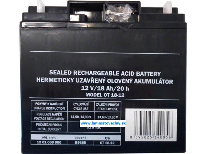 Bezúdržbový akumulátor 12V 17Ah