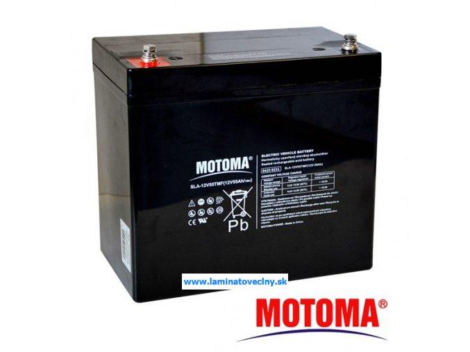 Akumulátor MOTOMA 12V/55Ah pre el. motory