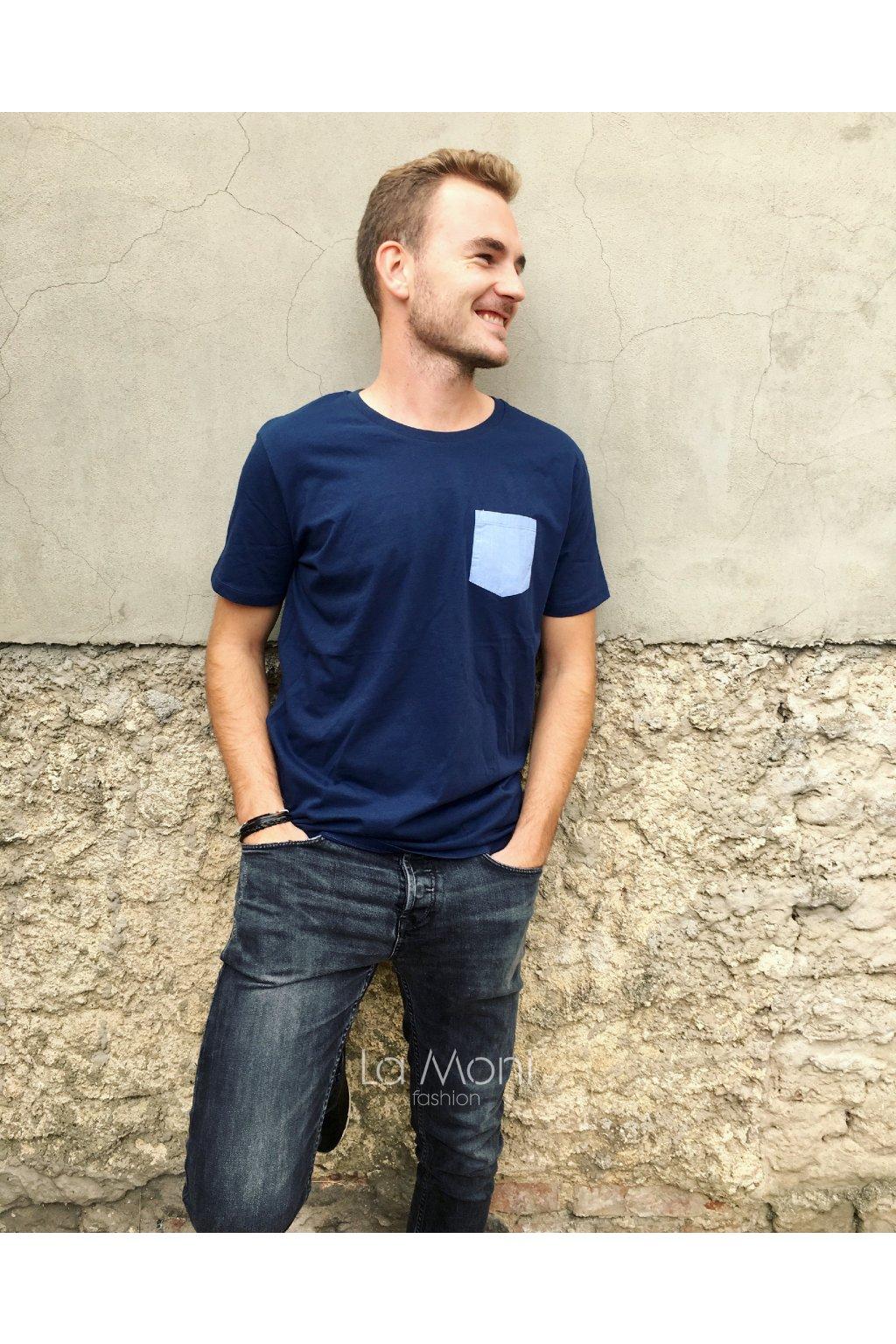 Pánské triko s kapsou