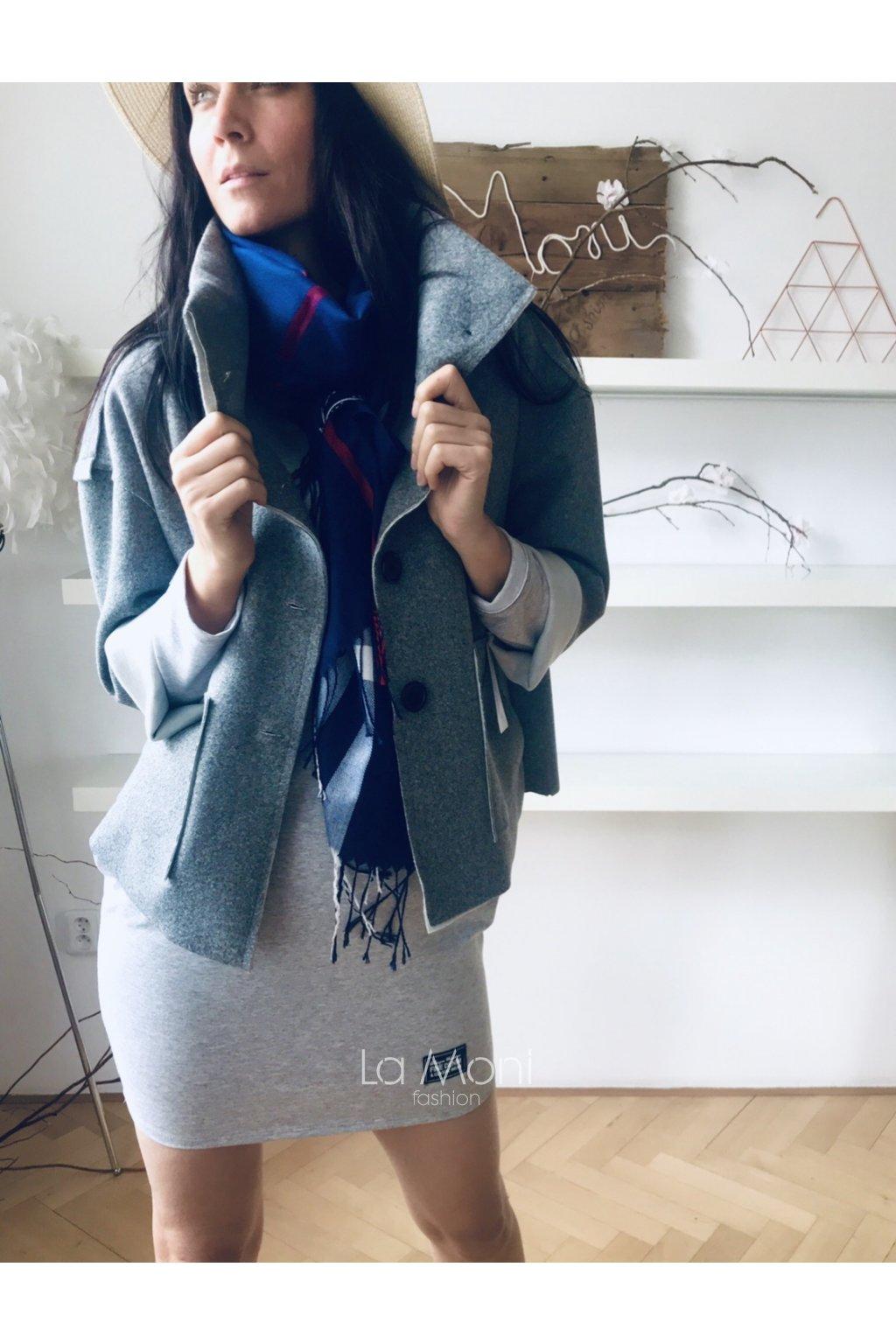 Stylový krátký kabátek