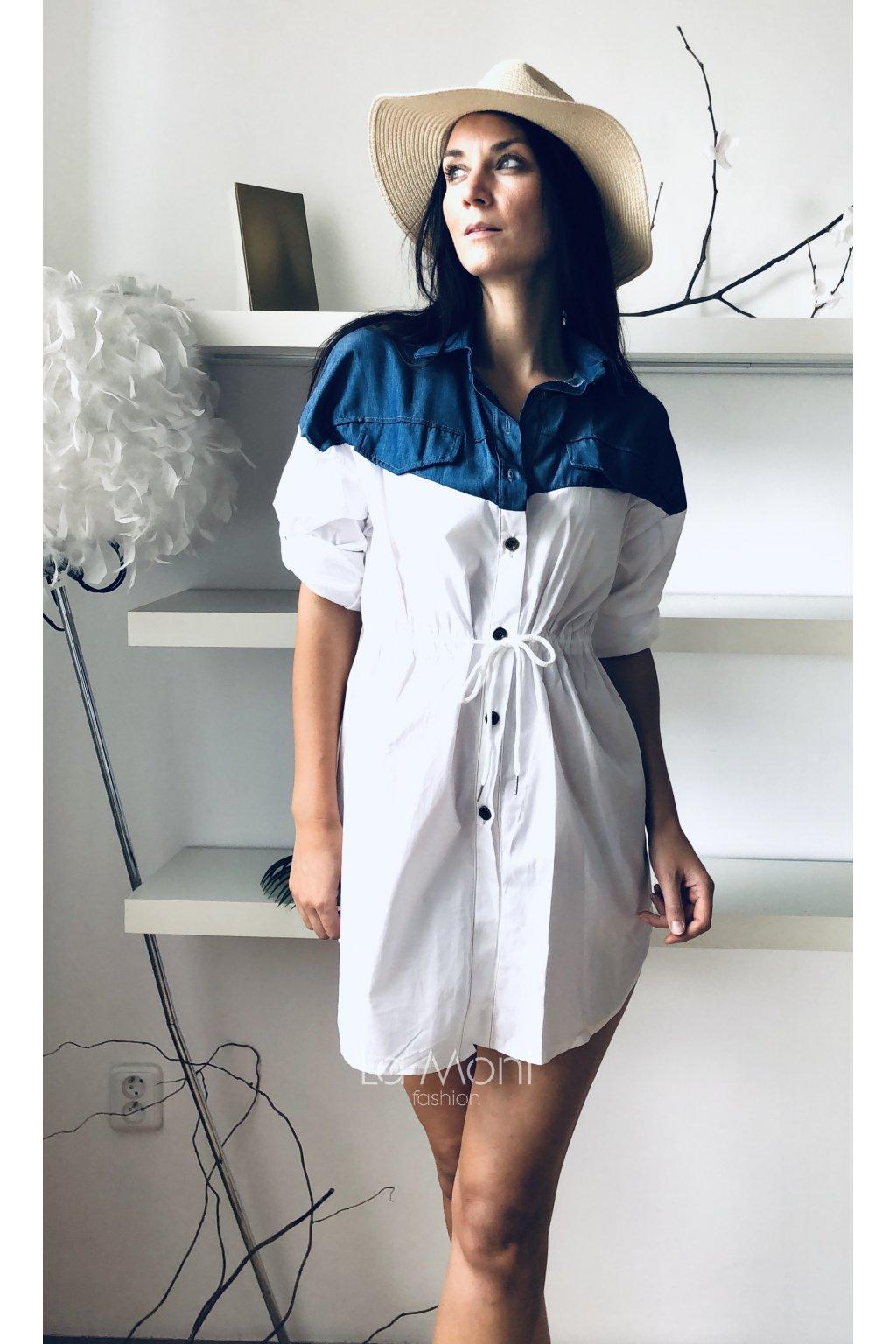 Košilové šaty - tunika