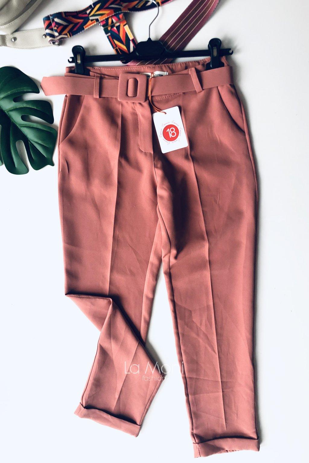 Luxusní kalhoty  s páskem
