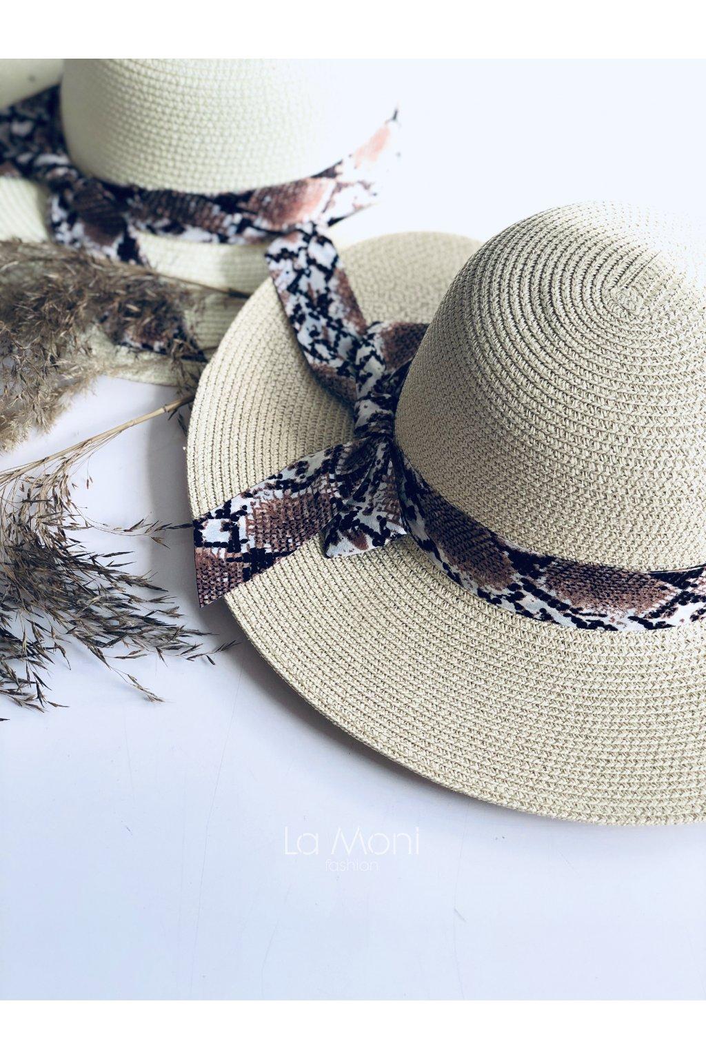 Letní slaměný klobouk  s mašlí