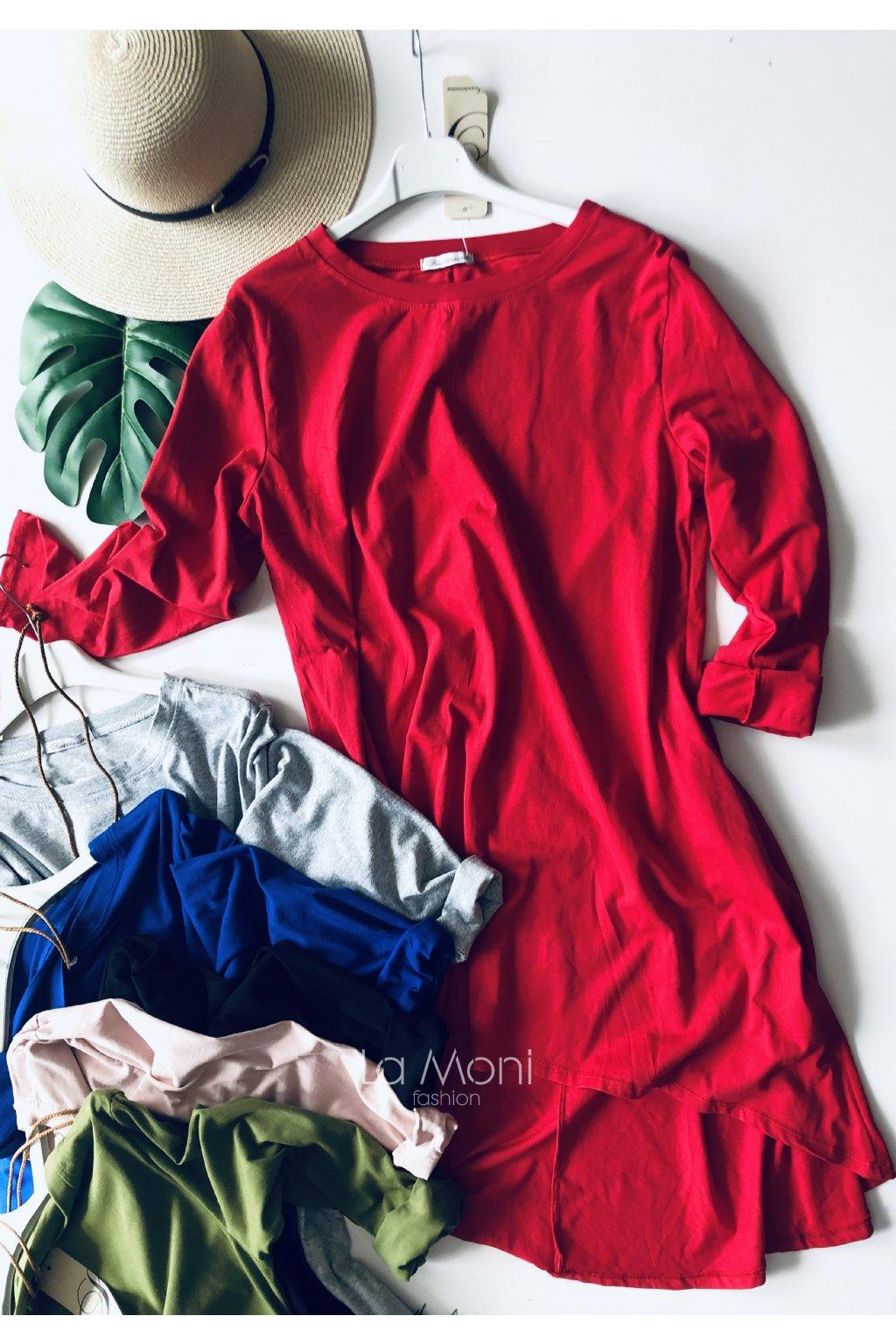 Úpletové šaty cool střihu  dl. rukáv OBLÍBENÉ   s kapsami