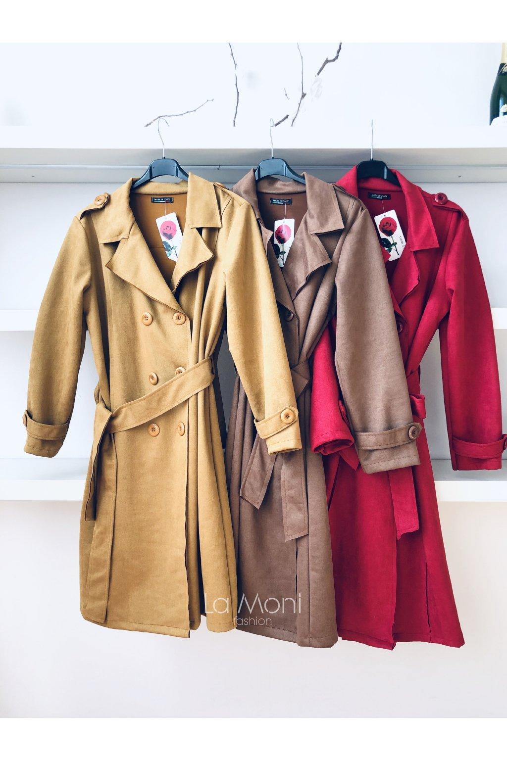 Kabát styl trenčkot   s kapsami   TIP