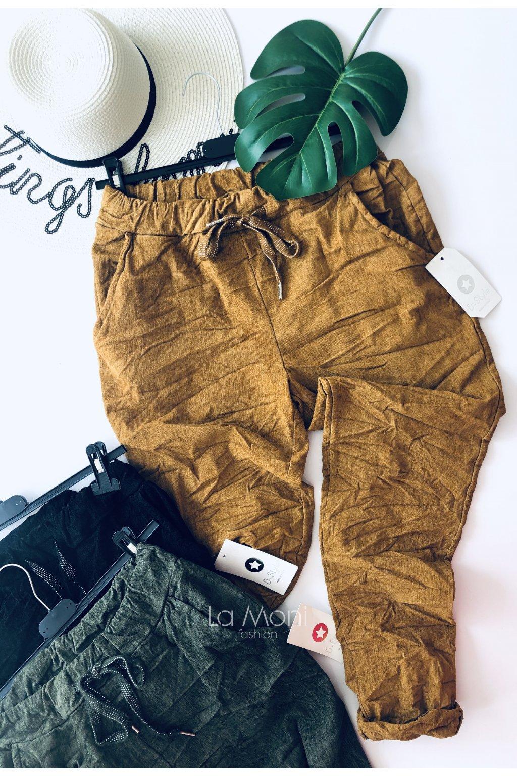 Podzimní kalhoty na gumu