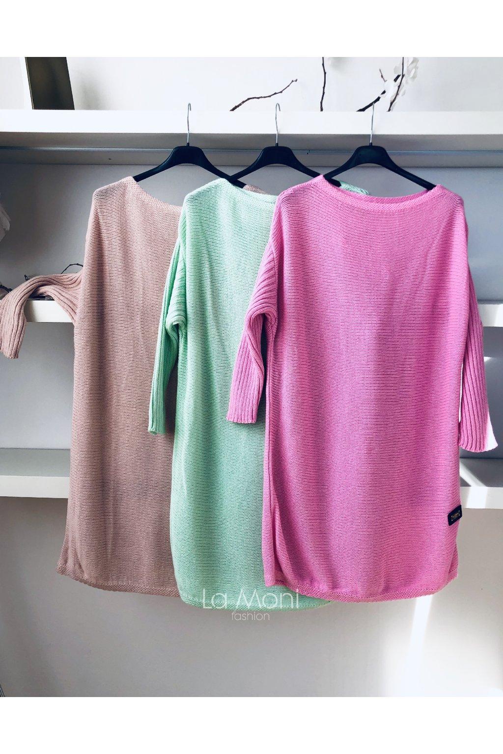 Dlouhý svetr - šaty - tunika