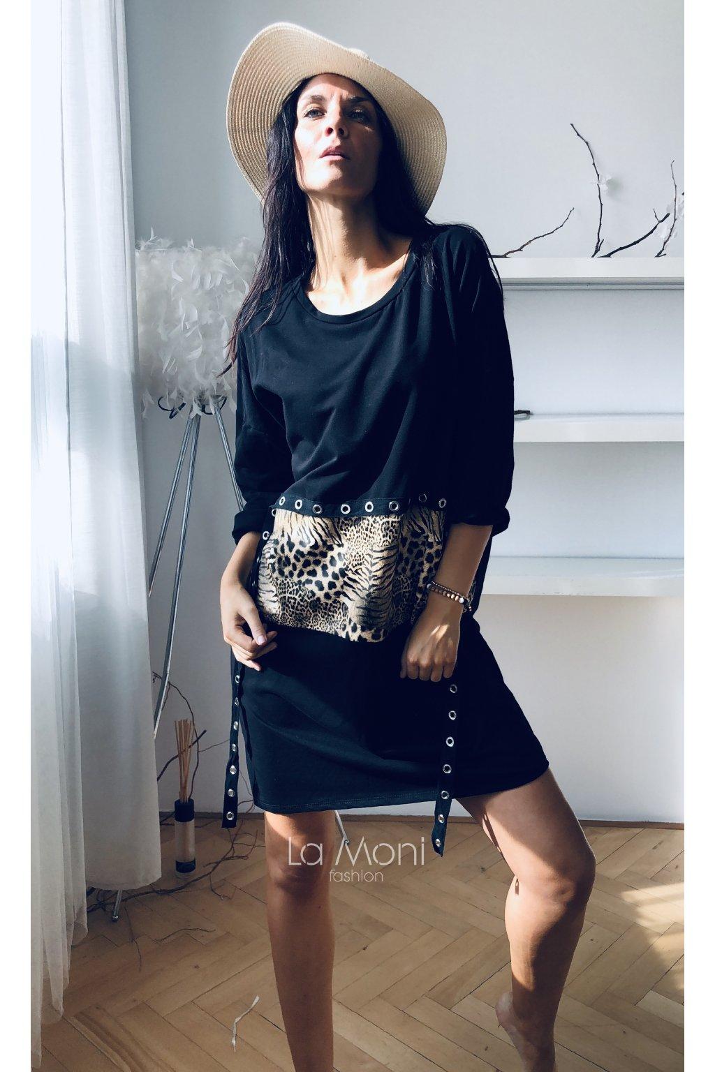 Oversize  šaty  -  zvířecí motiv