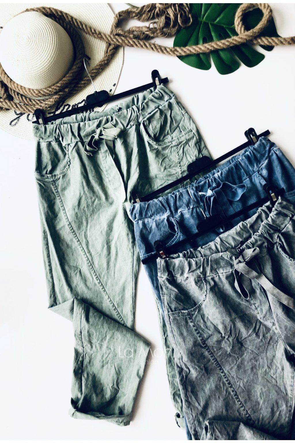 Střečové kalhoty na gumu
