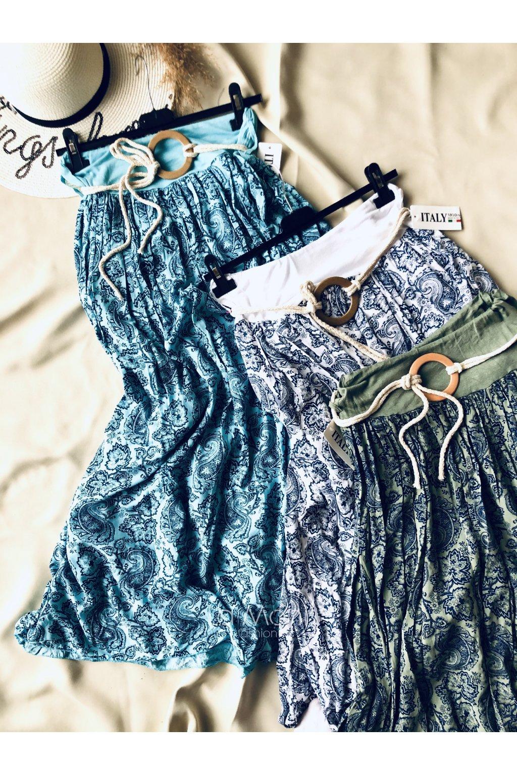 Dlouhá lehká sukně s ornamenty