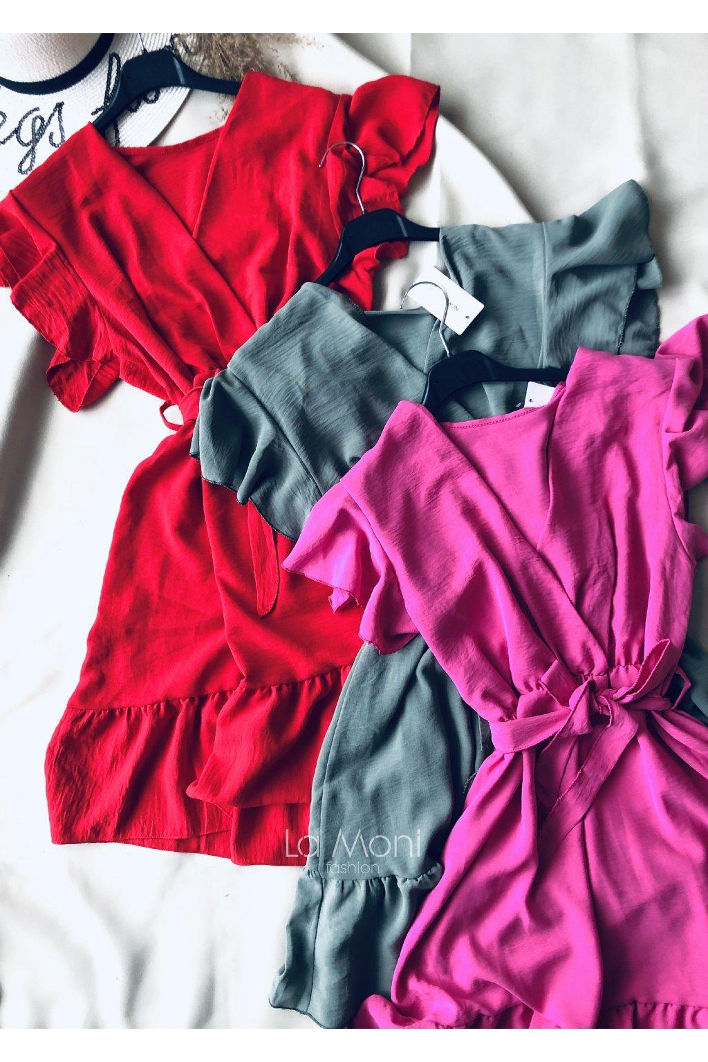Křížené roztomilé šaty  s volánky