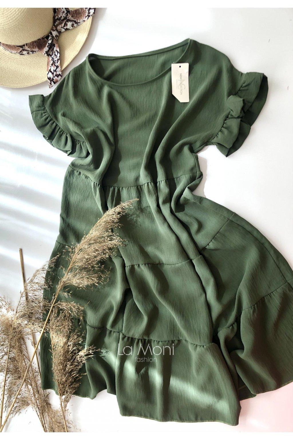 Nařasené šaty s volánky