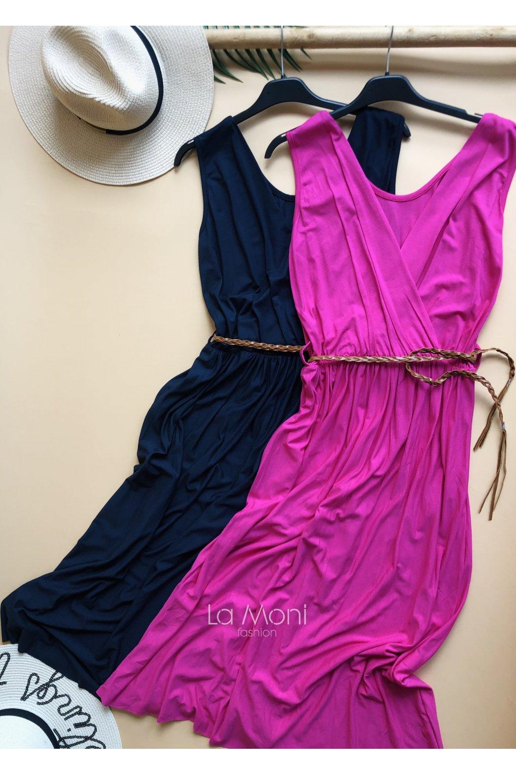Úpletové šaty křížené