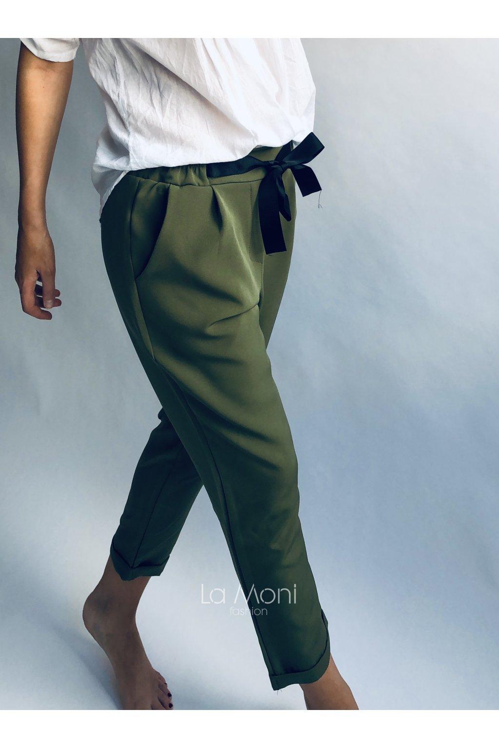 Elegantní  pohodlné kalhoty s mašlí