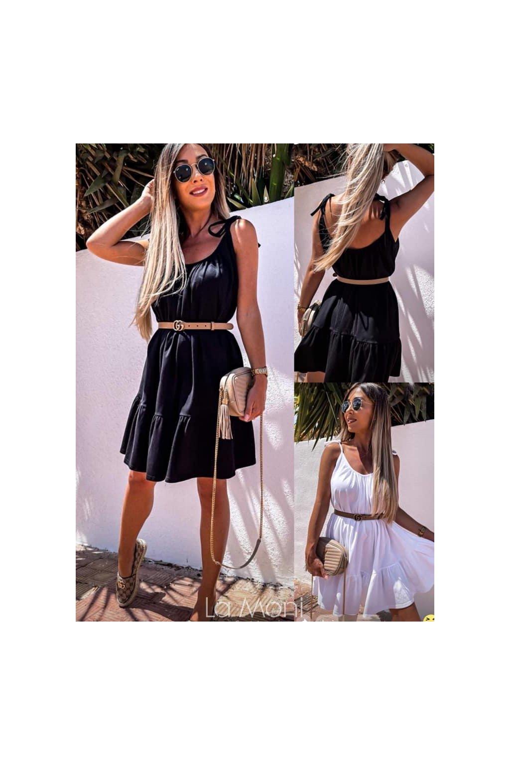 Krásné  úpletové šaty na ramínka