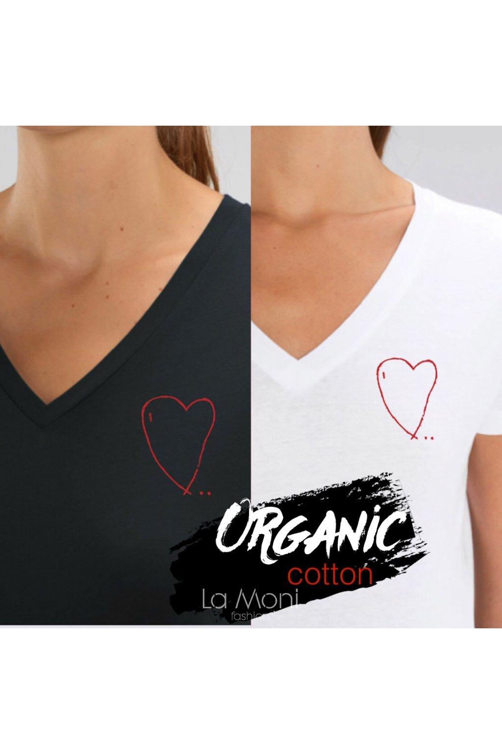 Triko véčko - organická bavlna   Srdce