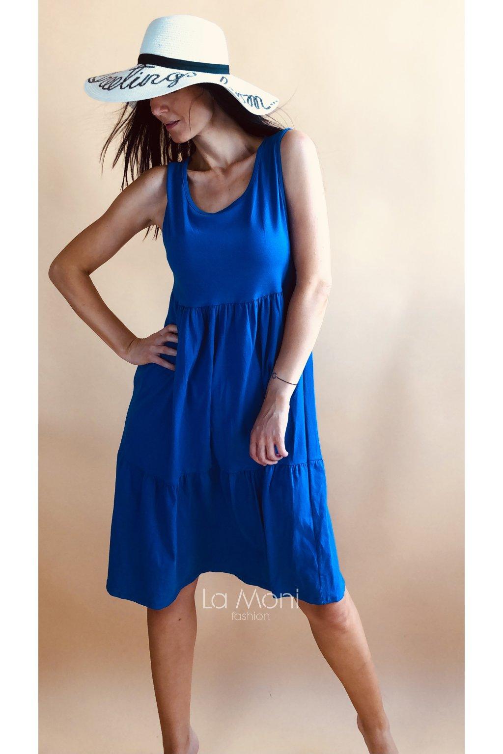 Úpletové šaty s nařasenou sukní delší střih  l/xl