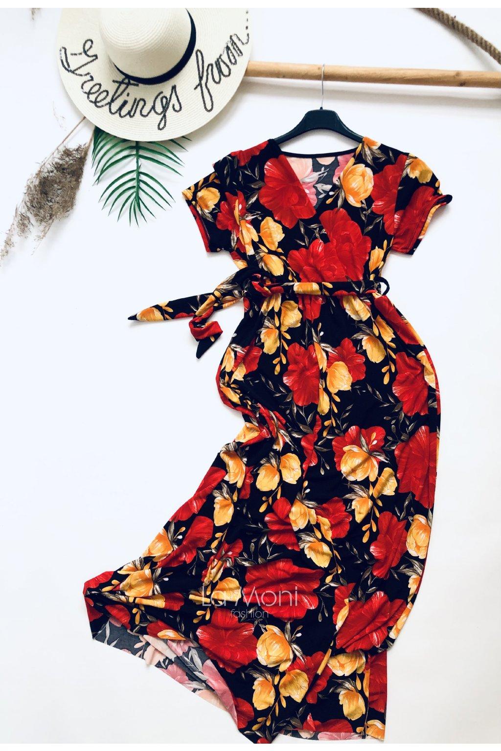 Dlouhé křížené šaty
