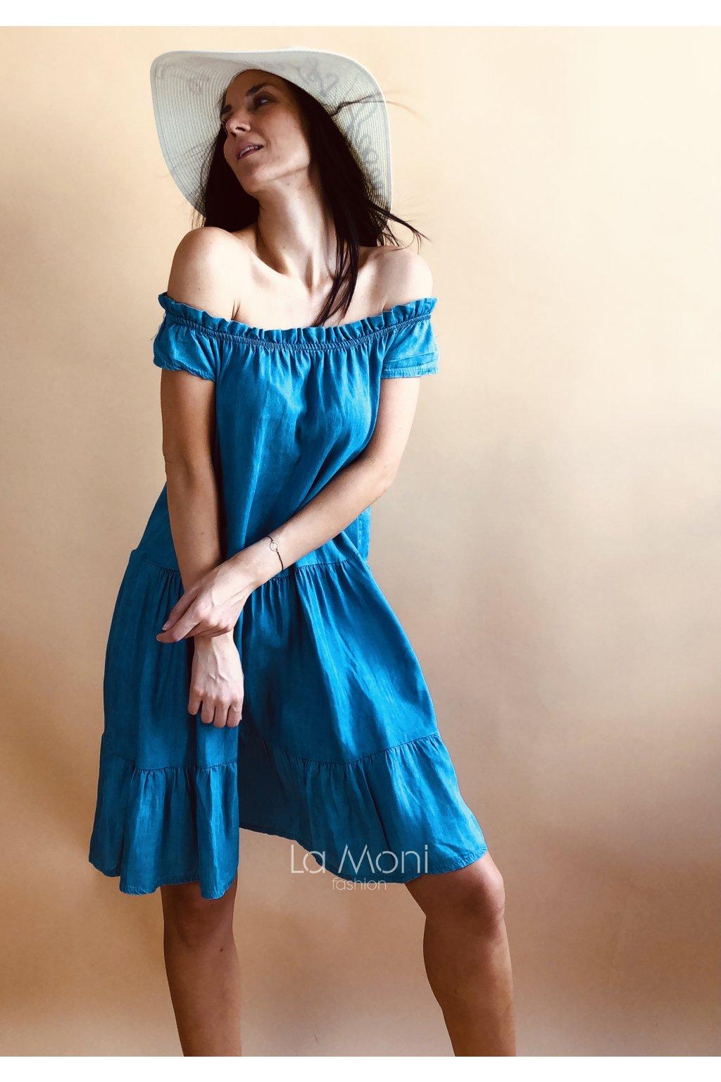 Letní lehounké džínové šaty  M/L